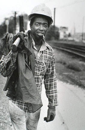 Railroad Worker, South Chicago, from Changing Chicago