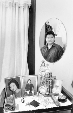 Elva Tung is Reflected in a Mirror, 96 Ave M, November 28, 1987