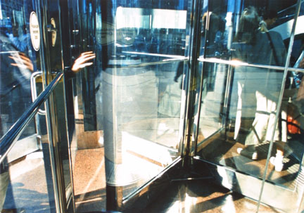 Revolving Door with Hand, from Changing Chicago
