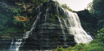 Burgess Falls, Falling Water River, TN, August 1991, from the