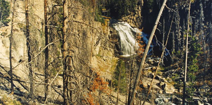 Gibbon Falls, Yellowstone National Park, WY, Sept 1991, from the