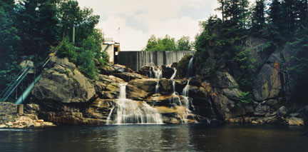 Goodrich Falls Hydroelectric Station, Glen, NH, June 1989, from the