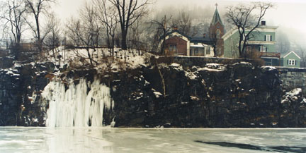 Ice Falls, Erie Canal, Little Falls, N.Y., February, 1989, from the
