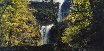 Kaaterskill Falls, Catskill Mountains, NY, May 1989, from the