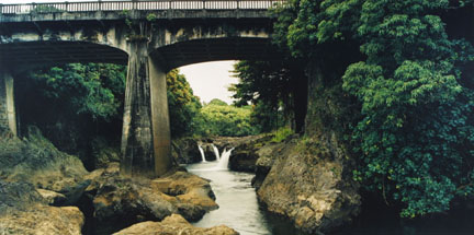 Maui's Canoe Falls, Hilo, Hawaii, February 1993, from the