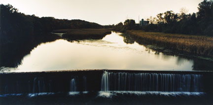 Oatka Creek, Leroy, New York, August 1989, from the