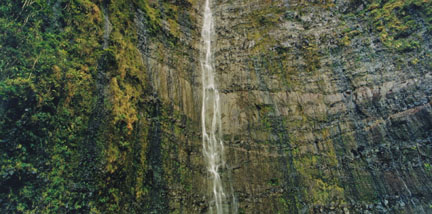 Waimoku Falls, Maui, Hawaii, February 1993, from the