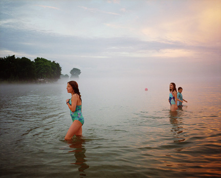 Three Girls, Lake Michigan