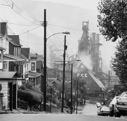 Looking Toward the Bethlehem Steel Mill, Johnston, Pennsylvania