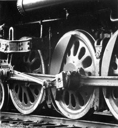Driving Wheels of a 408-4 Type Steam Locomotive #6218, Canadian National Railway, White River Junction, Vermont