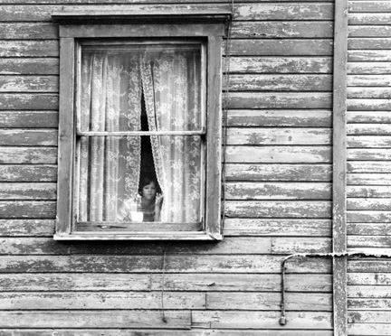 Girl In Window, Cresson, Pennsylvania