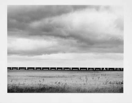 Great Northern Railway, Freight Train West of Havre, Montana