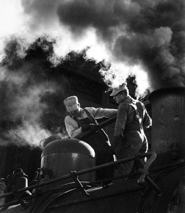 Sanding Locomotive, Denver and Rio Grande Western Railroad, Chama, New Mexico