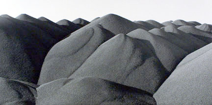 Piles of Taconite Pellets, Burlington Northern Railway Yards, Superior, Wisconsin