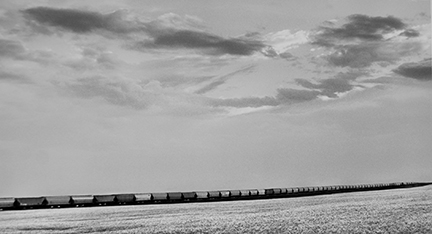 Union Pacific Railroad, Westbound Grain Train West of Sharon Springs, Kansas