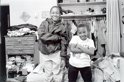 Two boys in their bedroom, Cabrini-Green, from Changing Chicago