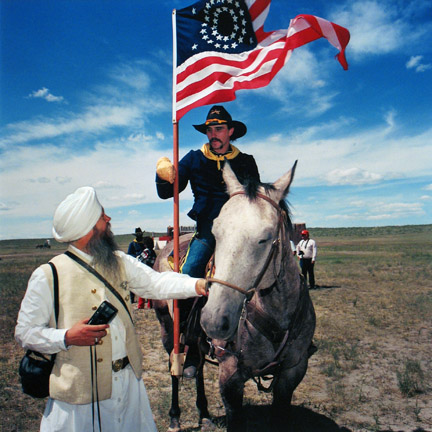 Turbaned Tourist and the Seventh Cavalry, Hardin, Montana