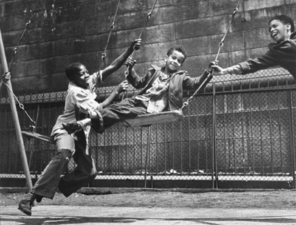 Three Boys on a Swing