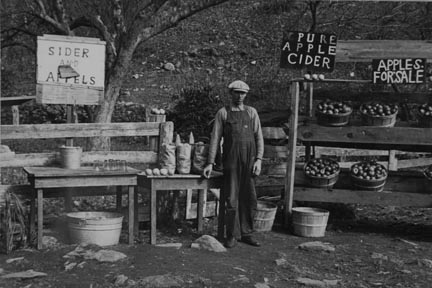 A cider and apple stand on the Lee Highway, Shenandoah National Park, Virginia