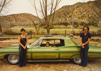 Paul, Annabelle, and Paula Medina, Chimayo, '68 Chevy Impala, from the