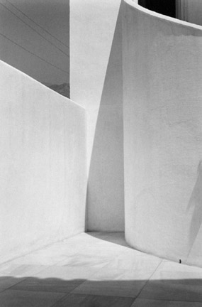 White Courtyard With Shadows, Spain, From