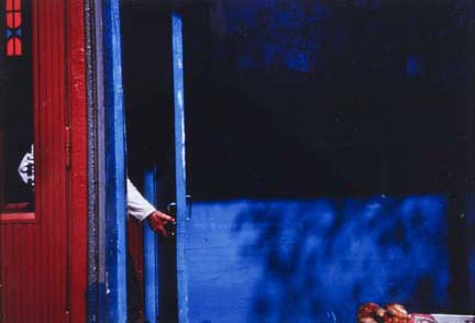 Moscow (hand and blue door)