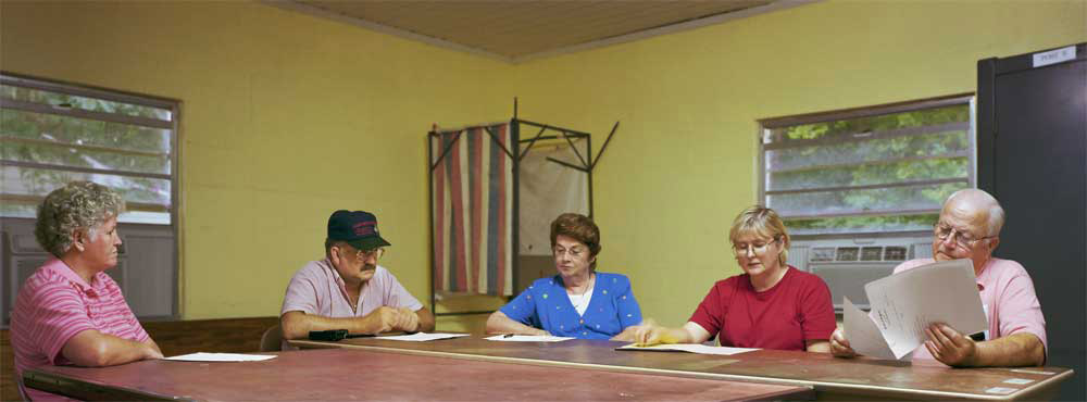 Dupont, Georgia (population 188) Town Council, August 14, 2001 (L to R): katherine Register, Jimmy Rawls, Mary Herndon, Jane Douglas (Clerk), Herbert Register (Mayor)