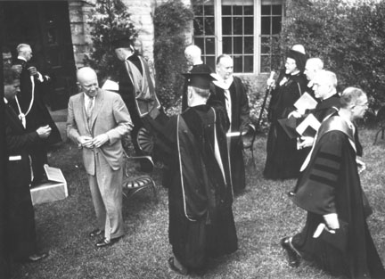 President Eisenhower at Northwestern University, Meeting of Heads of Branches of Protestant Church