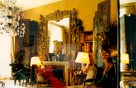 Carole Bouquet in the Apartment of Gabrielle Chanel, 25 July 1988, Paris