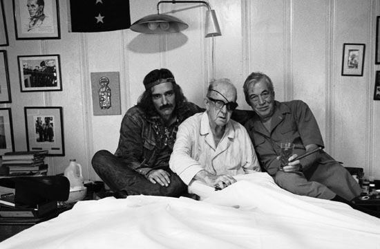 Dennis Hopper, Actor, John Ford, Director, John Huston, Director, 13 September 1971, Palm Springs, California