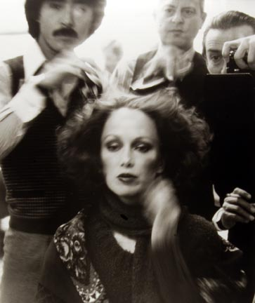 Suga, Alvin Chereskin, Skrebneski and Karen Graham, 07 April 1977, New York Studio