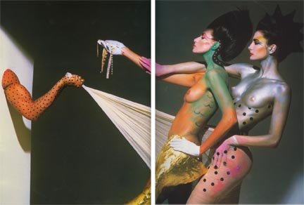 Painted Body Series, 28 January 1982, Chicago Studio