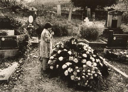 Untitled (woman smoking in cemetery), from the
