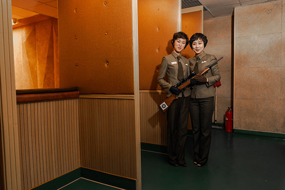 68 Miss KIM and Miss YANG, Meari Shooting Range, Pyongyang