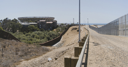 Triple Layer Fencing Near Tijuana/San Ysidro, from the