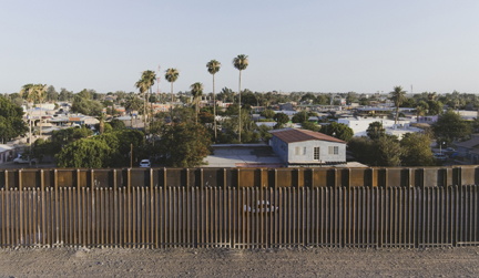 Bollard Fence, Los Algodones, Baja, California, from the