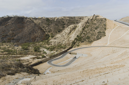 Smuggler's Gulch (West view), Near Tijuana/San Ysidro, from the