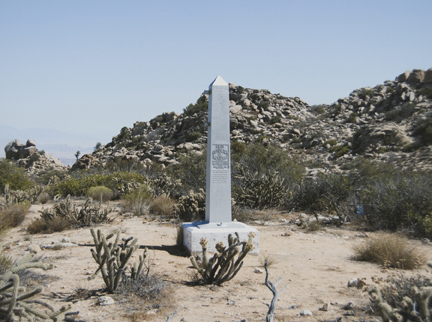 Border Monument No. 231, N 32° 37.181' W 116° 05.493', from the