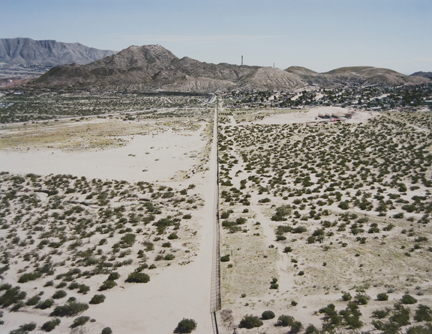 U.S.-Mexico Border, Looking east toward El Paso/Juárez, from the