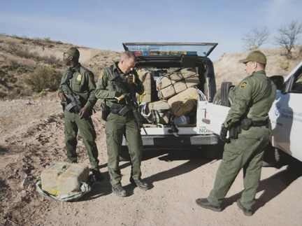 Seized Marijuana Bales, Arizona, from the