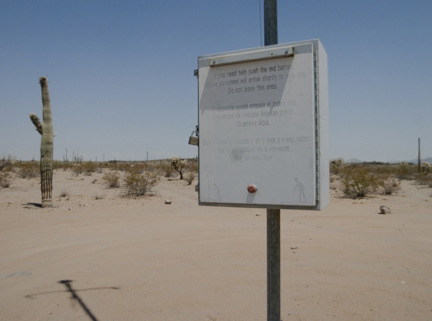Rescue Beacon, Cabeza Prieta National Wildlife Refuge, from the
