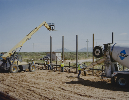 Pedestrian Fence Construction, U.S.-Mexico Border, from the