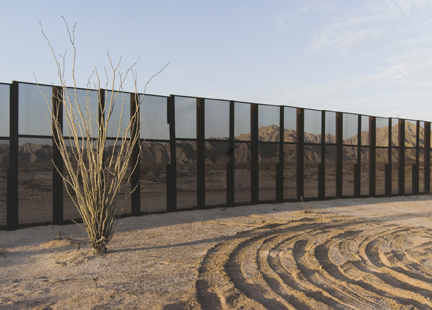 Drop-off Spot and Border Fence, Sonora, from the
