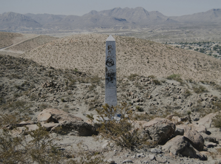 Border Monument No. 2A, N 31° 47.033' W 106° 32.992', from the