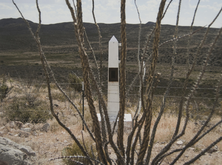 Border Monument No. 39, N 31° 47.022' W 108° 11.209', from the