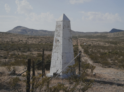 Border Monument No. 40, N 31° 47.024' W 108° 12.514', from the