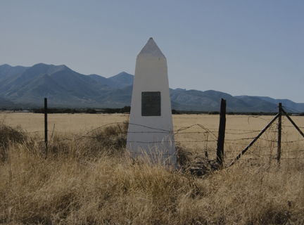 Border Monument No. 66, N 31° 19.937' W 108° 48.797', from the