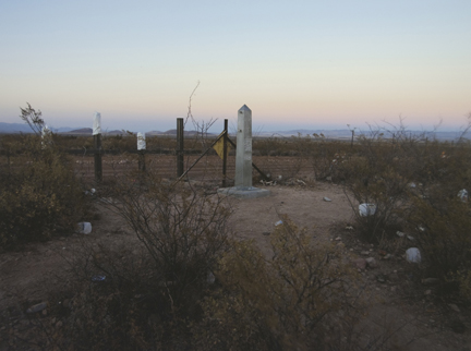 Border Monument No. 79, N 31° 20.045' W 109° 21.040', from the