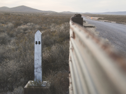 Border Monument No. 88, N 31° 20.048' W 109° 44.442', from the