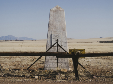 Border Monument No. 106, N 31° 19.978' W 110° 27.575' (North View), from the